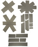 Assorted duck tape. Various strips and repair patches of duck tape.  Includes clipping path Stock Images