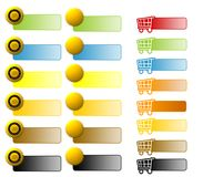 Assorted E-Commerce Web Buttons. For web sites vector illustration