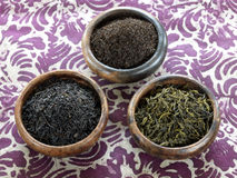 Assorted Earl Grey teas : black,green and Ceylan Royalty Free Stock Image