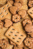 Assorted Easter cookies with cocoa Royalty Free Stock Photography