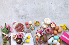 Assorted easter food selection Stock Photos