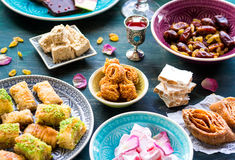 Assorted eastern desserts Stock Photo