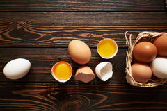 Assorted eggs composition Royalty Free Stock Image