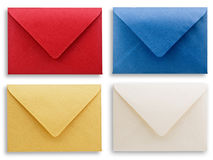 Assorted envelopes, path provided. Stock Photo