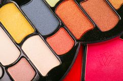 Assorted eyeshadows Royalty Free Stock Image