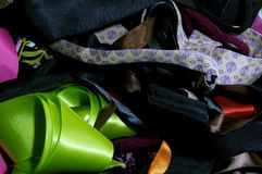 Assorted fabric background Royalty Free Stock Photography