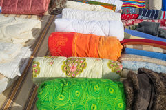 Assorted fabrics Stock Photo