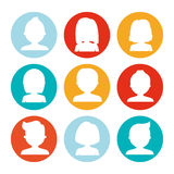 Assorted faceless people heads icon image Stock Photography
