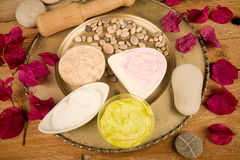 Assorted facial creams Stock Images