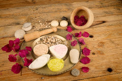 Assorted facial lotions Royalty Free Stock Photography