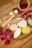Assorted facial lotions still life Stock Photography