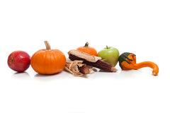 Assorted fall vegetables as a background Royalty Free Stock Photos