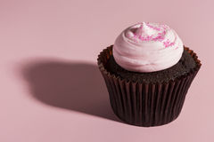 Assorted Fancy Gourmet Cupcakes with Frosting Stock Photography
