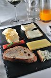 Assorted Fine Cheese Plate Royalty Free Stock Image