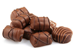 Assorted Fine Chocolates Stock Photography