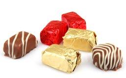 Assorted Fine Chocolates Stock Photos