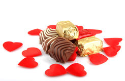 Assorted Fine Chocolates Stock Photos