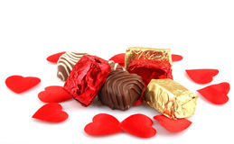 Assorted Fine Chocolates Royalty Free Stock Images