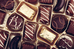 Assorted Fine Chocolates Royalty Free Stock Photos
