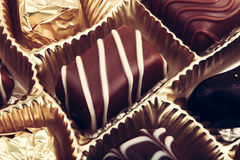 Assorted Fine Chocolates Stock Image