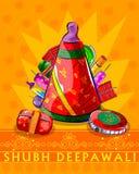 Assorted firecraker for Diwali celebration. Vector design of assorted firecraker for Diwali celebration wishing Shubh Deepawali Happy Diwali stock illustration