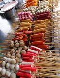 Assorted fish balls and sausages Royalty Free Stock Photo