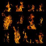Assorted Flames Royalty Free Stock Image