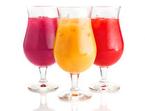 Assorted Flavor Cold Drinks on Glass Stock Photos