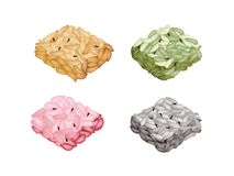 Assorted Flavors of Kaminariokoshi or Traditional Japanese Crispy Rice Royalty Free Stock Image