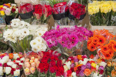 Assorted flowers of a market stall Stock Image