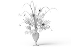 Assorted flowers in vase Royalty Free Stock Image