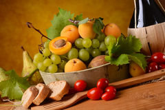 Assorted food on the table Royalty Free Stock Images