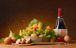 Assorted food on the table Stock Photo