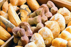 Assorted french bread Stock Photo