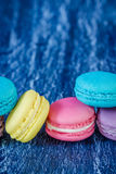 Assorted french macaroons Stock Images
