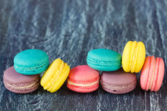 Assorted french macaroons Stock Image
