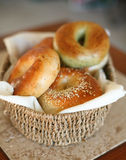 Assorted fresh bagels Royalty Free Stock Photography