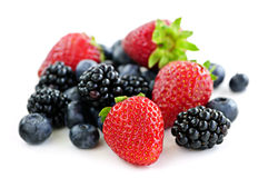 Assorted fresh berries Stock Photos
