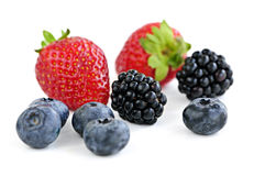 Assorted fresh berries royalty free stock photos