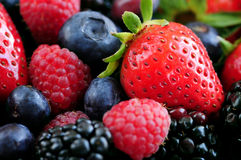 Assorted fresh berries Stock Photo
