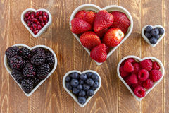 Assorted Fresh Berries and Pomegranate Seeds stock photo
