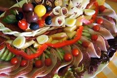 Assorted fresh cold cut platter Stock Photos