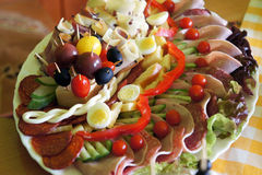 Assorted fresh cold cut platter Stock Photo