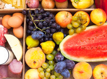 Assorted fresh fruits Royalty Free Stock Photos