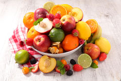 Assorted fresh fruits Royalty Free Stock Images
