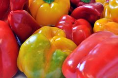 Assorted fresh peppers Royalty Free Stock Photos