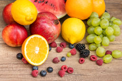 Assorted Fresh Ripe Fruits Stock Photography