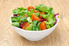 Assorted Fresh Salad And Cherry Tomatoes In A Bowl Royalty Free Stock Photo
