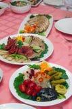 Assorted fresh salads Stock Photo