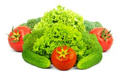 Assorted fresh vegetables Stock Photos